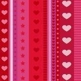 Vetor do teste padrão do coração ilustração royalty free