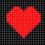 Vetor do teste padrão do coração do ponto de cruz ilustração stock