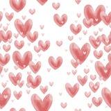 Vetor do teste padrão do coração do Valentim Pouco bonito Imagem de Stock Royalty Free