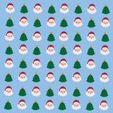 Vetor do teste padrão do Natal Fotografia de Stock Royalty Free