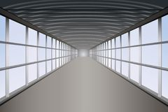 Vetor do túnel do pedestre Fotos de Stock Royalty Free