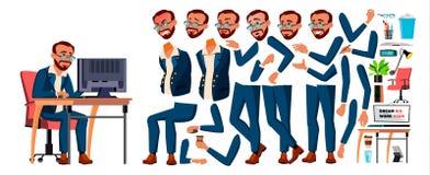 Vetor do trabalhador de escritório turkish turk Grupo da criação da animação Homem de negócios Worker Gerador do estilo de vida E ilustração royalty free