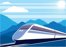Vetor do trem rápido Fotografia de Stock