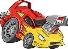 Vetor do veículo do carro da rua do carro de corridas Imagens de Stock Royalty Free