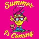 Vetor do verão da mascote ilustração stock