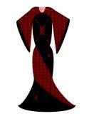Vetor do vestido de noite Fotografia de Stock