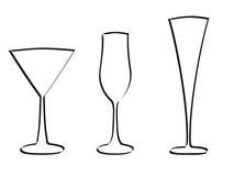 Vetor do vidro da haste ilustração stock