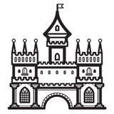 Vetor do vintage do castelo Fotografia de Stock Royalty Free
