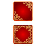 Vetor do vintage do coração do Valentim da bandeira do botão Imagens de Stock Royalty Free