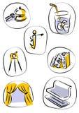 Vetor dos ícones Imagem de Stock Royalty Free