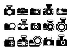 Vetor dos ícones da câmera da fotografia Imagem de Stock