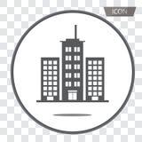 Vetor dos ícones das construções isolado no fundo Foto de Stock Royalty Free