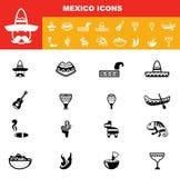 Vetor dos ícones de México Imagem de Stock Royalty Free