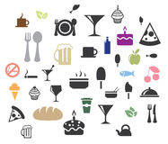 Vetor dos ícones do alimento Fotos de Stock Royalty Free