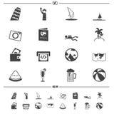 Vetor dos ícones do curso Foto de Stock