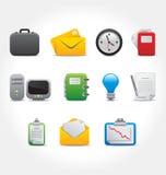 Vetor dos ícones do escritório e do computador Imagens de Stock Royalty Free