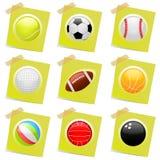 Vetor dos ícones do esporte Fotos de Stock Royalty Free
