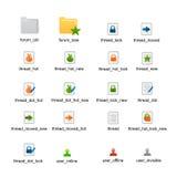 Vetor dos ícones do status do fórum Fotos de Stock Royalty Free