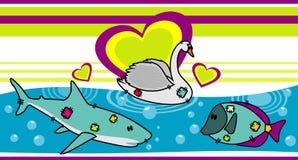 Vetor dos animais da água Fotografia de Stock