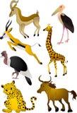 Vetor dos animais dos desenhos animados Foto de Stock Royalty Free