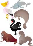 Vetor dos animais dos desenhos animados ilustração royalty free