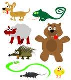 Vetor dos animais dos desenhos animados ilustração do vetor