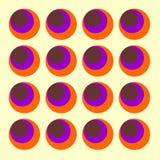 Vetor dos círculos dos anos sessenta Imagens de Stock