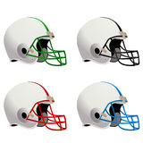 Vetor dos capacetes de futebol Fotografia de Stock Royalty Free