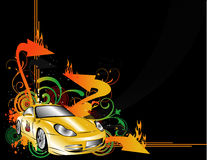 Vetor dos carros desportivos Imagem de Stock