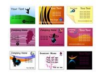 Vetor dos cartões Fotografia de Stock