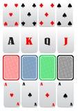 Vetor dos cartões de jogo Fotografia de Stock Royalty Free