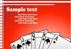 Vetor dos cartões de jogo ilustração royalty free