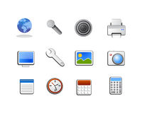 Vetor dos ícones da ferramenta de sistema Fotos de Stock