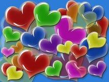 Vetor dos corações Imagens de Stock Royalty Free