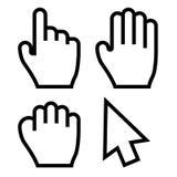 Vetor dos cursores da mão Fotografia de Stock