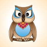 Vetor dos desenhos animados da coruja pequena Fotografia de Stock Royalty Free