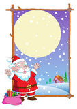 Vetor dos desenhos animados de Papai Noel do Natal Imagem de Stock