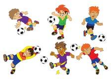 Vetor dos desenhos animados do futebol do esporte Foto de Stock Royalty Free