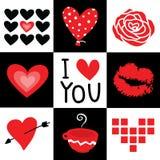 Vetor dos desenhos animados do querido do Valentim eu te amo ilustração do vetor
