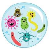 Vetor dos desenhos animados dos vírus ilustração do vetor