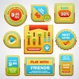 Vetor dos elementos da interface de utilizador do jogo Imagem de Stock Royalty Free