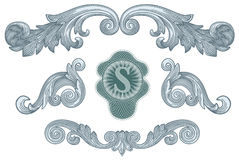 Vetor dos elementos do projeto do dólar imagem de stock royalty free