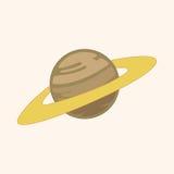 Vetor dos elementos do tema do planeta do espaço, eps Imagens de Stock