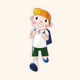 Vetor dos elementos do tema dos desenhos animados do estudante, eps Imagem de Stock Royalty Free