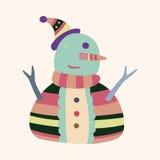Vetor dos elementos dos desenhos animados do boneco de neve, eps Imagens de Stock Royalty Free