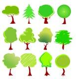 Vetor dos gráficos da árvore Imagens de Stock Royalty Free