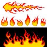 Vetor dos gráficos do incêndio ilustração do vetor