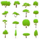 Vetor dos gráficos da árvore Imagens de Stock
