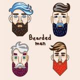 Vetor dos homens da barba foto de stock
