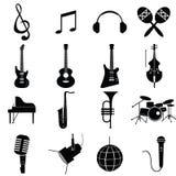 Vetor dos instrumentos de música Foto de Stock
